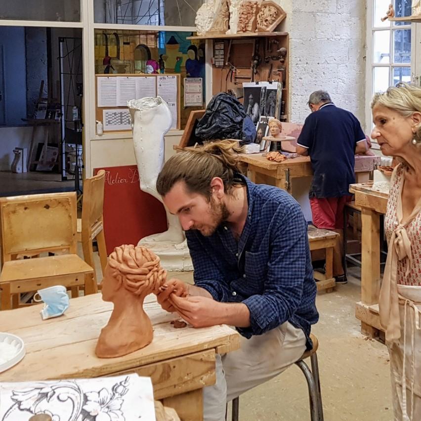 Nicolas Tarpin, intervenant extérieur en modelage et sculpture à l'Académie des Arts d'Avignon