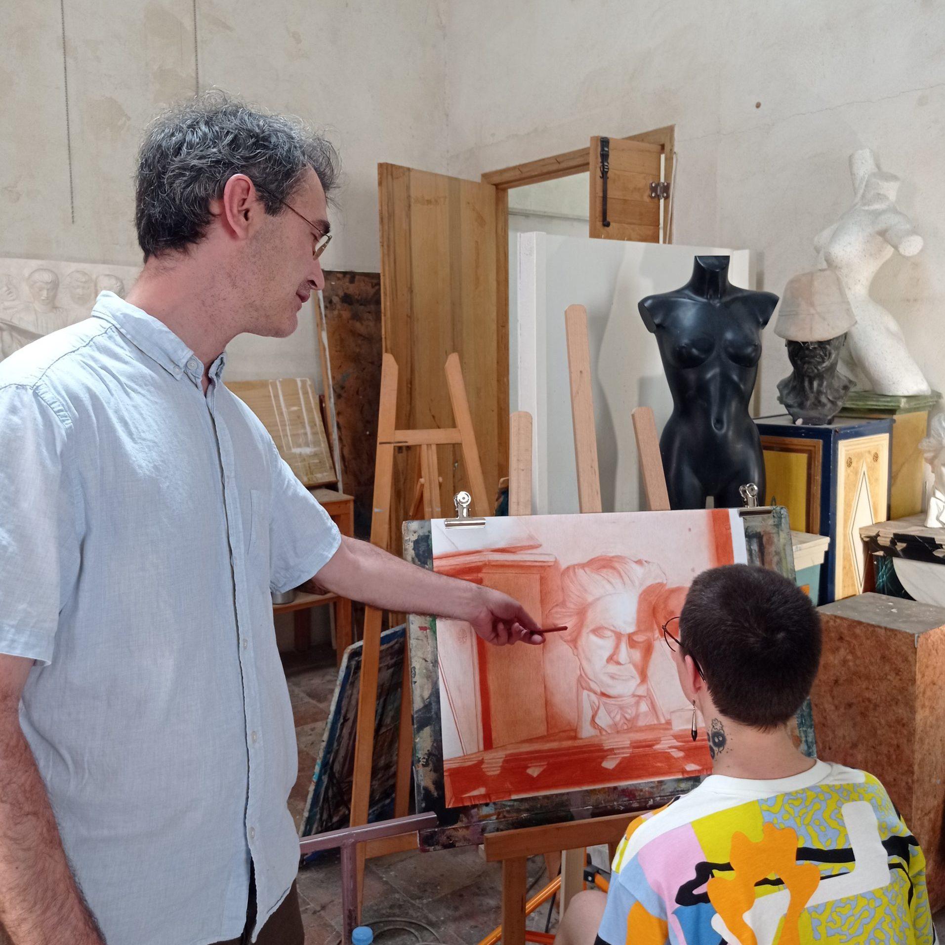 Gregory Macip, formateur dessin, peinture et peinture décorative à l'Académie des Arts d'Avignon