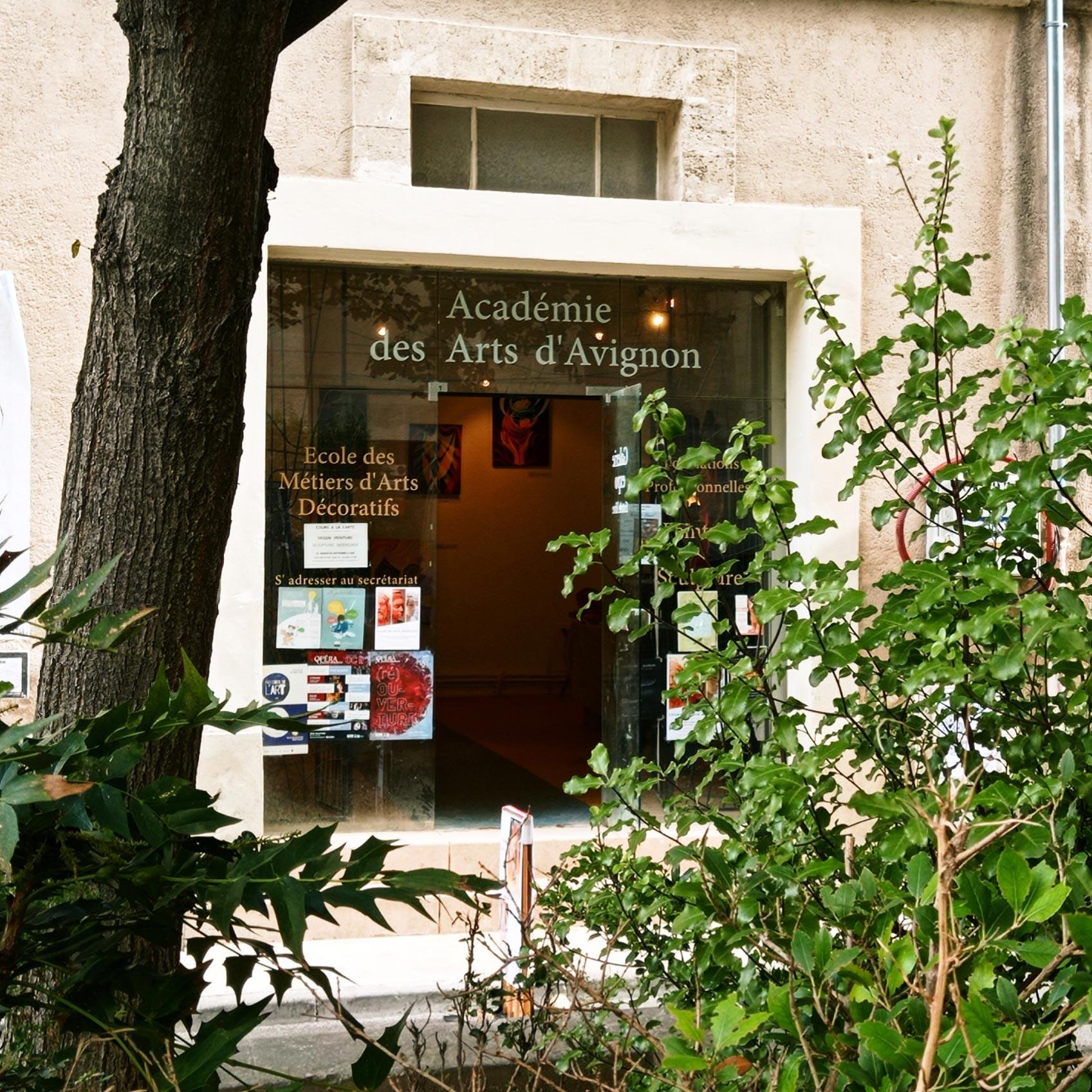 Entrée de l'Académie des Arts d'Avignon