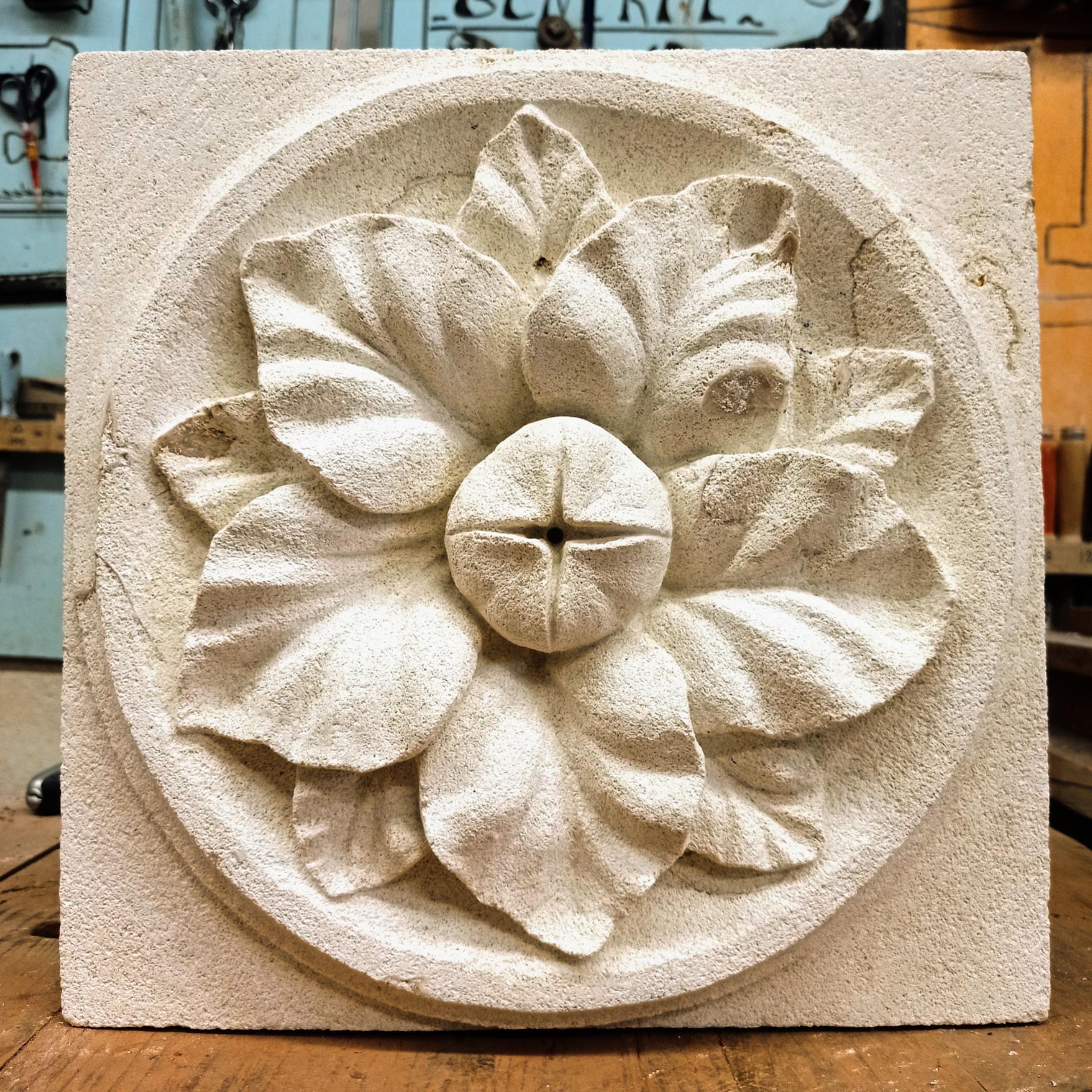 Rosace en pierre