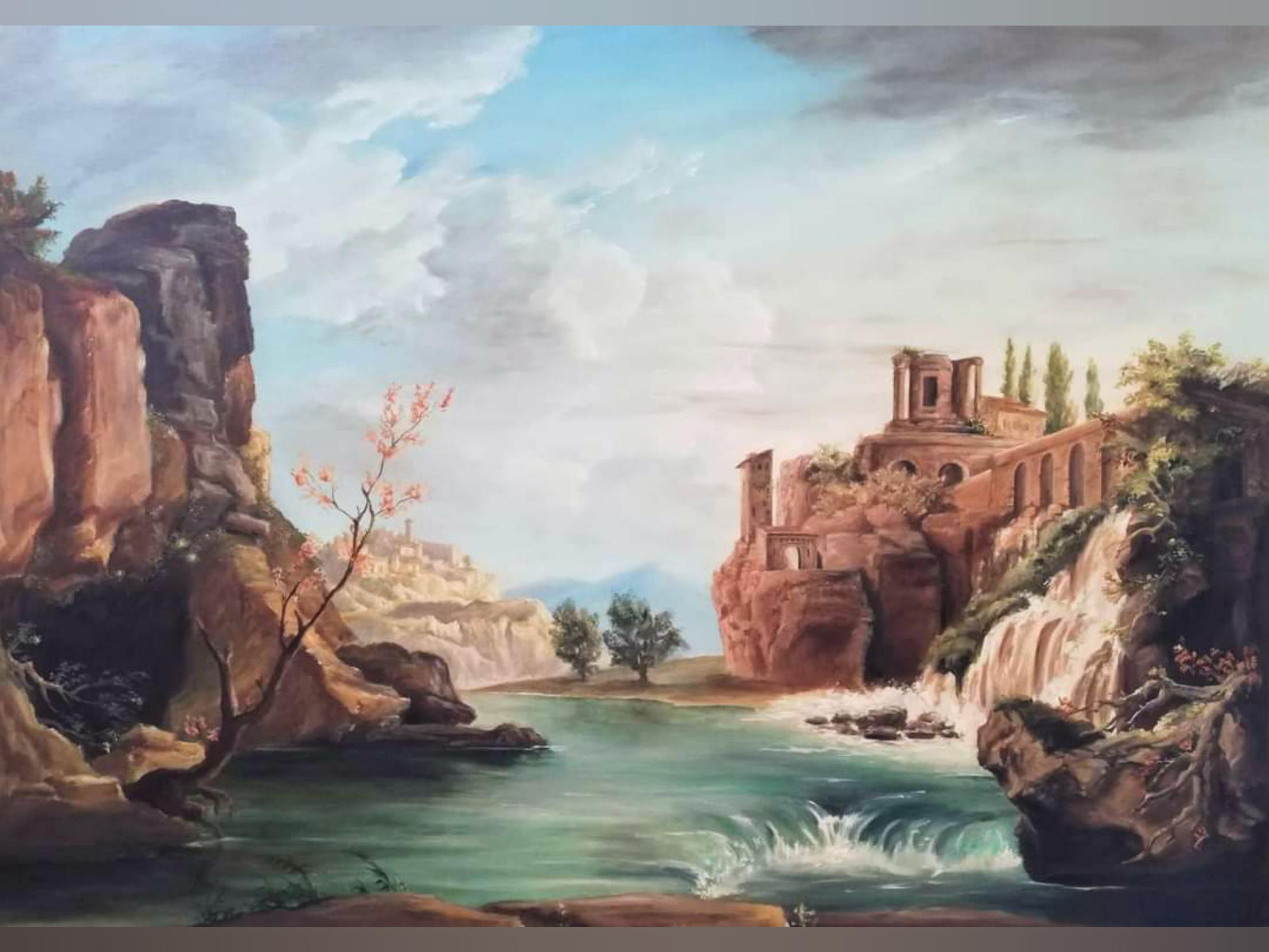 Création d'un décor paysage d'après Joseph Vernet